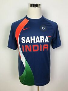 Nike Fit Dry India National Cricket Team Mens Home Jersey T-Shirt Shirt Tee MED