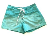 Vintage 90s SURF STYLE Board Shorts Iridescent Green Womens Size Small Petite