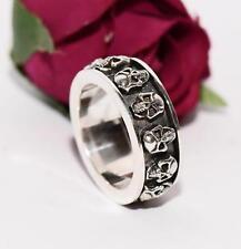 JJJ LA SKULL HEADS 925er Sterling Silber Ring Bracelet NEU Herrenring