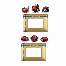 Adesivi Murali coccinelle light switch stickers ladybugs wall sticker 6 pz.