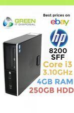 HP PC SFF Elite Compaq 8200 XL510AV Intel i3 2100 3.10GHz 4 GB Ram 250 GB HDD 22