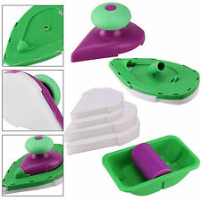 Point Paint Pad Painting Roller Tray 2 Sponge Set Brush Home Wall Decor Tool Uk