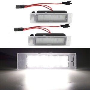 2pcs LED License Plate Lights Lamps Kit For Chevy Camaro Equinox Bolt EV ATS CTS