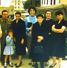 2 Vtg Kodachrome 35mm Slides Greece Family Pretty Women Military Fashion 1950s