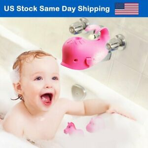 Baby Bath Spout Cover Faucet Protector Bathroom Bathtub Silicone Cover Toys Pink