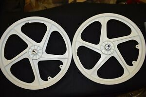 O.G.K OGK MAGS 20'' wheel set plastic vintage old school bmx white JAPAN NOS 80s