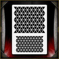 Triangle Pattern Texture Airbrush Stencil Template Airsick