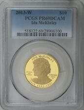 2013 $10 Ida McKinley First Spouse 1/2 oz 99.99% Pure Gold Proof PCGS PR69DCAM