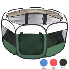 45' Portable Foldable Pet Playpen Dog Cat Exercise Play Pens Fence Indoor Large