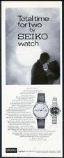 1967 Seiko man's woman's watch photo vintage print ad
