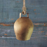 Fair Trade Handmade Rustic Kapani Small Gold Bell Hanging
