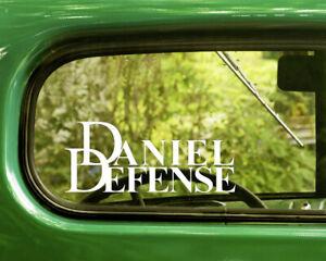2 DANIEL DEFENSE FIREARMS LOGO DECALs Sticker Bogo For Car Window Bumper Laptop