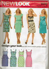 From UK Sewing Pattern Lady's Peplum Dress  4-16 #6146
