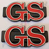GS , 2 Badges (pair) Chrome , New, for Rotary Coupe Mazda Rotor RX3 RX-3 13B 12A