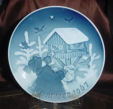 B&G Bing Grondahl Fuglenes Jul Christmas Plate Jule After 1967 Ec vtm