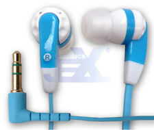 High Quality White/Blue Silicon Earbuds Earphones Flat Anti Tangle Cord for MP3