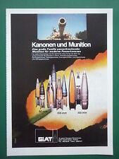 2/1979 PUB GIAT ARMEE FRANCAISE CANON MUNITION AMMUNITIONS TANK PANZER GERMAN AD