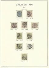 Great Britain Stamp Collection on Lighthouse Page 1883-84, #98/107 Scv $1227