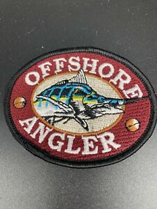 New Offshore Angler Fishing Embroidered Patch Marlin Swordfish Deep Sea Boat