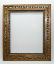 Stunning Large Antique 1800's Wide Border Carved Cove Beaded Inset Frame 20 x 16