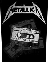 Metallica No Life Till Leather Jacket Back Patch Official Metal Band Merch New