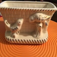 vintage Vase Mail Organizer Letter Holder Planter bird Window Decor Seed Start