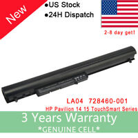 Battery For HP Pavilion TouchSmart 14 15 Notebook PC Laptop F3B96AA 728460-001 F