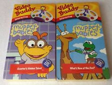 NEW & Sealed (2) Video Buddy interactive VHS VCR video play MUPPET BABIES tapes