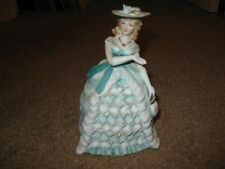 LEFTON Hand Painted Porcelain Lady Figurine Southern Belle Hat