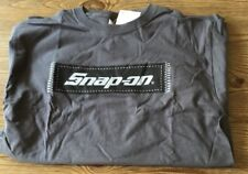 Snap On Tools T Shirt Gray Black Logo NWT Short Sleeve 100% Cotton TS5 Size L