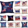 Happy Independence Day Fourth of July Sofa Cushion Cover Home Decor Pillow Case