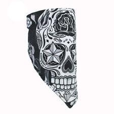 Motorrad Sugar Skull Totenkopf Face Mask Wrap Gesichtsschutz Fleece Neck Warmer