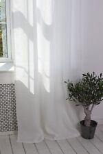 Linen Back Tab Curtain Panel - 53'' Width, Custom Length in White, Grey, Beige
