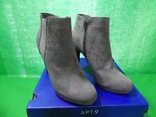 Apt 9 Biennial Women's High Heel Ankle Boots size 10 NEW GREY zip up side
