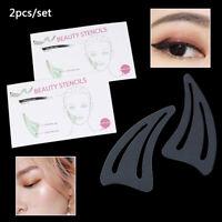 2pcs/set Contour Makeup Template Face Contour Stencil Eyeliner Eyeshadow Sten BX