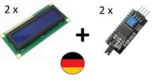 LCD 1602 +HD44780 I2C Interface Display Anzeige Bildschirm Blau geeignet Arduino