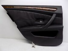 2008-2010 BMW 550i 535i REAR LEFT INTERIOR DOOR PANEL COVER BLACK TRIM OEM