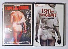 I SPIT ON YOUR GRAVE - UNRATED DVD SET - 1978 Original + 2010 Remake - FREE SHIP