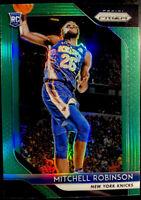 🔥 2018-19 Mitchell Robinson RC Panini Prizm GREEN Holo REFRACTOR #227 Knicks