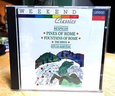 Respighi: Pines of Rome, Fountains of Rome, The Birds CD (1989) Very Good Tested