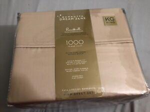 Wamsutta Dream Zone PimaCott 1000 Thread Count KING Sheet Set Taupe new sealed