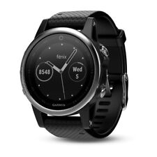 GARMIN fenix 5S Montre GPS multisports Silver avec bracelet noir 010-01685-02