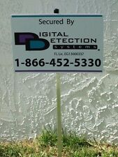1 - Reflective DDS Security Yard Sign Mounted on Stake