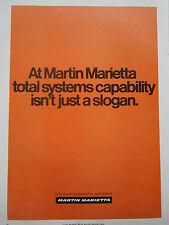 7/1974 PUB MARTIN MARIETTA AEROSPACE DEFENSE TOTAL SYSTEMS ORIGINAL AD