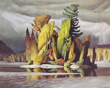 A.J. Casson- Little Island- Giclee Canvas Gallery Wrapped- 38 x 47