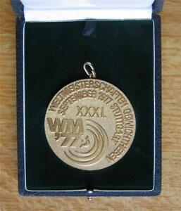 Gold Winner's Medal World Weightlifting Championships 1977 Stuttgart XR in case