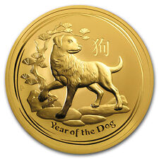 2018 Australia 10 oz Gold Lunar Dog BU