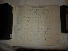 Vintage Benton County Kennewick Washington Township Metsker Ownership Plot Map