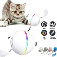 New Pet Cat Toy Smart Colorful LED Flash Interactive Rolling Ball Automatic