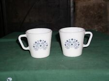 2-Pyrex Coffee Cup BLUE SUMMER IMPRESSIONS #1610 Vry Gd++